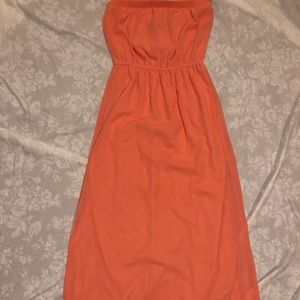 Peach Maxi dress from Forever 21